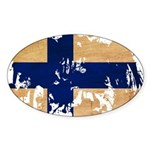Finland Flag Sticker (Oval 10 pk)