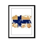 Finland Flag Framed Panel Print
