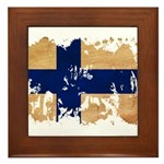 Finland Flag Framed Tile