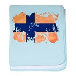 Finland Flag baby blanket