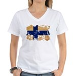 Finland Flag Women's V-Neck T-Shirt