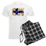 Finland Flag Men's Light Pajamas