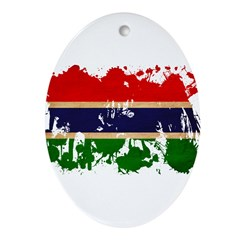 Gambia Flag Ornament (Oval)