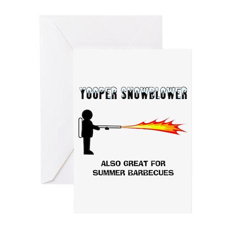 Yooper Snowblower Greeting Cards (Pk of 10)
