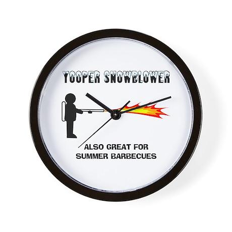 Yooper Snowblower Wall Clock