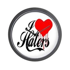I Love Haters -- T-Shirt Wall Clock