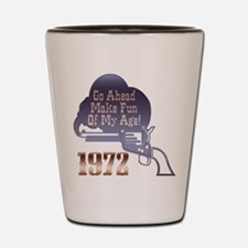40th Gifts, 1972 Shot Glass