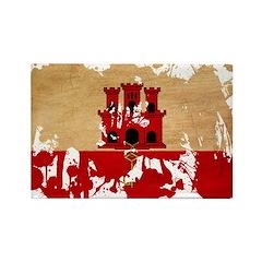 Gibraltar Flag Rectangle Magnet (100 pack)