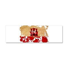 Gibraltar Flag Car Magnet 10 x 3