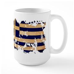 Greece Flag Large Mug