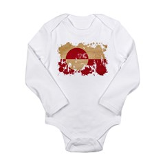 Greenland Flag Long Sleeve Infant Bodysuit