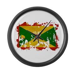 Grenada Flag Large Wall Clock