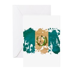 Guatemala Flag Greeting Cards (Pk of 10)