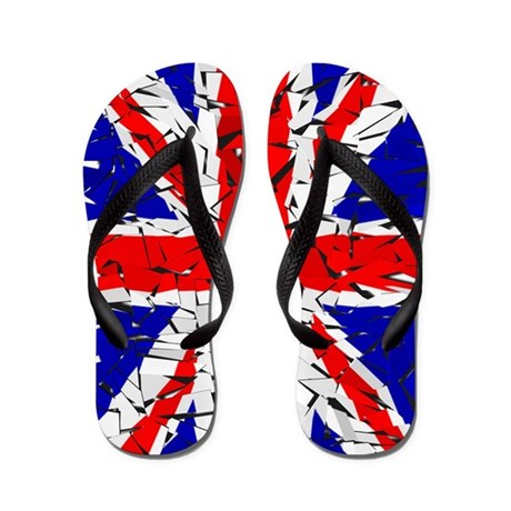 Awesome British Flag Flip Flops