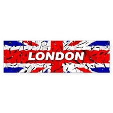Awesome British Flag Bumper Sticker