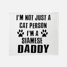 Siamese Daddy Throw Blanket