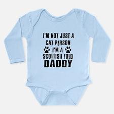 Scottish Fold Daddy Long Sleeve Infant Bodysuit