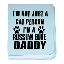Russian Blue Daddy baby blanket