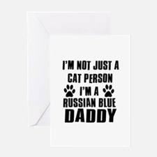 Russian Blue Daddy Greeting Card