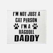 Ragdoll Daddy Throw Blanket