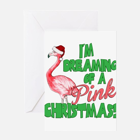 Pink Christmas Greeting Cards