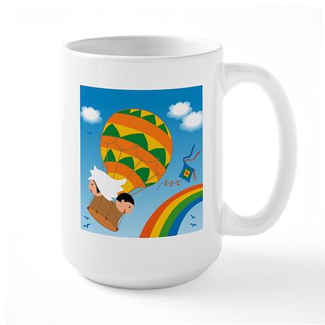 Honeymoon on Balloon Large Mug