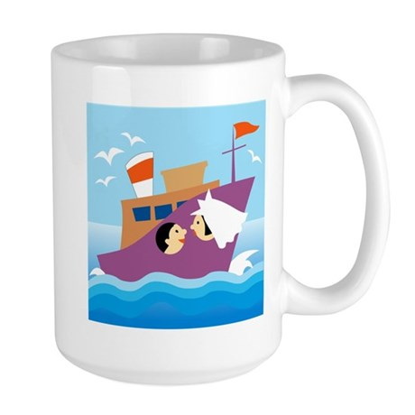 Honeymoon on Ship Large Mug