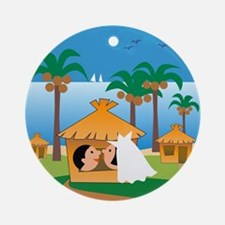 Hawaii Honeymoon Ornament (Round)