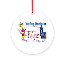 Yo Soy Boricua Pa Que Sepas Ornament (Round)