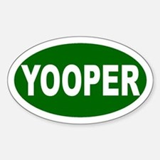 Yooper Oval Sticker (Green)