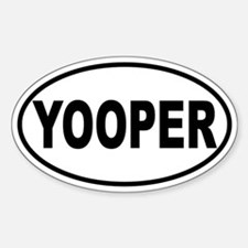Yooper Oval Sticker (B&W)