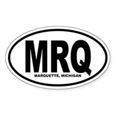 Marquette Oval Sticker (B&W)