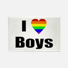 I Love Boys Rectangle Magnet