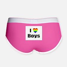 I Love Boys Women's Boy Brief