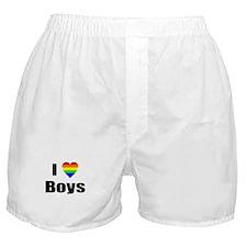 I Love Boys Boxer Shorts