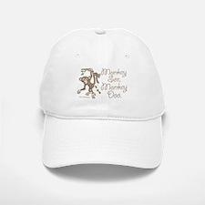 Monkey See, Monkey Doo Baseball Baseball Cap