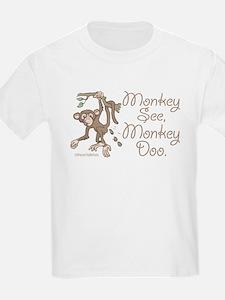 Monkey See, Monkey Doo Kids T-Shirt