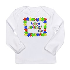 Puzzle Frame Autism Aware Long Sleeve Infant T-Shi
