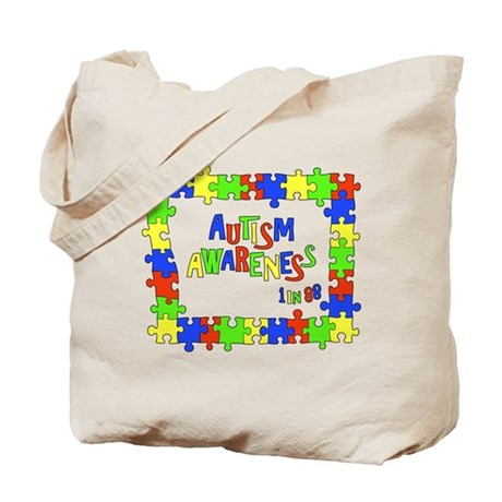 Puzzle Frame Autism Aware Tote Bag