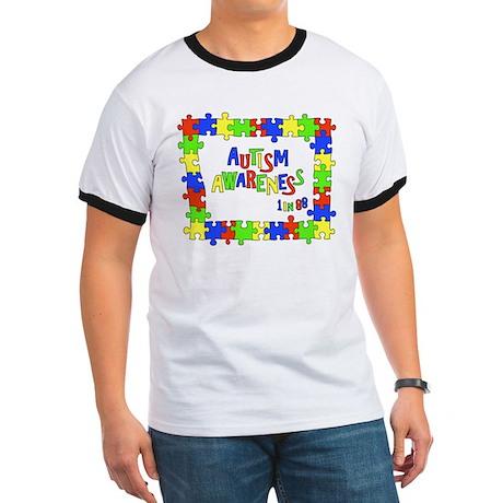 Puzzle Frame Autism Aware Ringer T