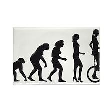 Unique Evolution of man biker Rectangle Magnet (10 pack)