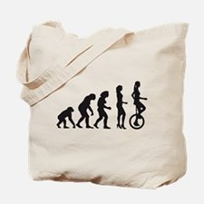 Funny Evolution bike Tote Bag
