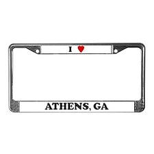 I Love Athens License Plate Frame