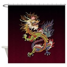 Colorful Chinese Dragon Shower Curtain