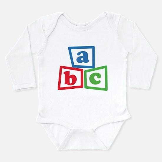 ABC Blocks Long Sleeve Infant Bodysuit