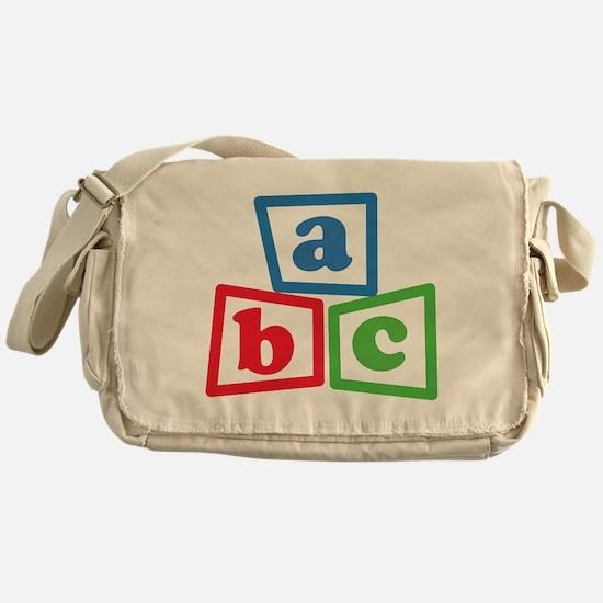 ABC Blocks Messenger Bag