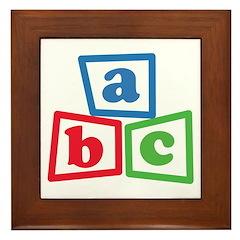 ABC Blocks Framed Tile