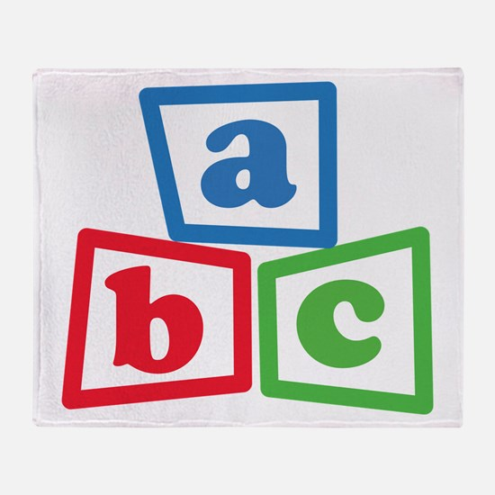 ABC Blocks Throw Blanket