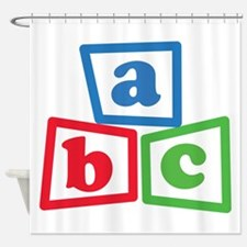 ABC Blocks Shower Curtain