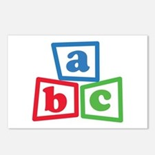 ABC Blocks Postcards (Package of 8)
